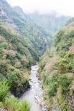 ТАЙВАНЬ - 18-ое января 2016: Национальный парк Taroko известный ландшафт i Стоковые Фотографии RF