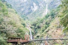 ТАЙВАНЬ - 18-ое января 2016: Национальный парк Taroko известный ландшафт i Стоковое Фото