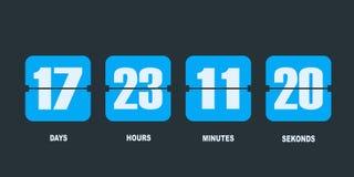 Таймер счетчика часов комплекса предпусковых операций сальто иллюстрация штока