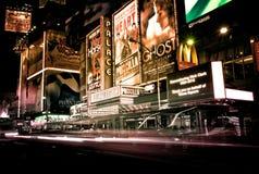 Таймс площадь вдоль седьмого бульвара Стоковая Фотография