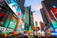 Таймс площадь, New York City, США. Стоковое Фото