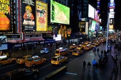 Таймс площадь на ноче Стоковые Изображения