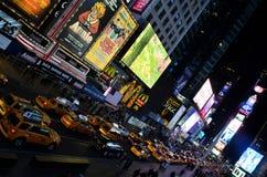 Таймс площадь на ноче Стоковое Изображение RF