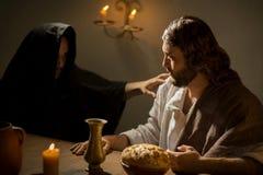 Тайная вечеря Иисуса Христоса стоковая фотография rf