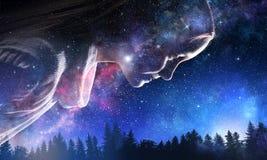 Тайна мира космоса стоковое фото