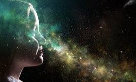 Тайна мира космоса стоковые фото