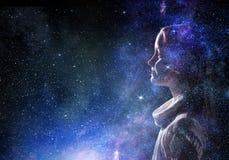 Тайна мира космоса стоковое изображение