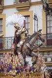 Тайна шага братства надежды Triana, пасхи в Севилье стоковые изображения rf