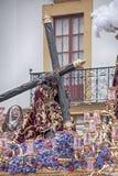 Тайна шага братства надежды Triana, пасхи в Севилье стоковые фото