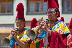 Тайна Cham в Ladakh, северной Индии стоковое изображение