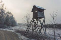 Тайник дорогой леса winter сельский Стоковые Изображения RF