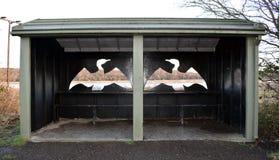 Тайник птицы на старой причаливает запас заболоченного места RSPB Стоковое фото RF