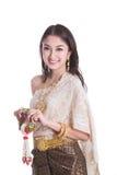Тайская дама в винтажном первоначально Таиланде Стоковые Фото