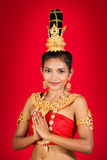 Тайская дама Стоковое Изображение