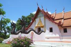 Тайская архитектура, древний храм Стоковые Фотографии RF