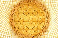 Тайская бамбуковая текстура корзины Стоковая Фотография