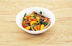 Тайская вегетарианская еда Стоковая Фотография