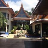 Тайская вилла стиля Стоковые Изображения