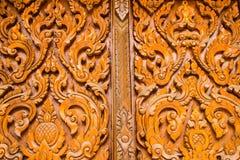 Тайская высекая древесина Стоковое Изображение RF