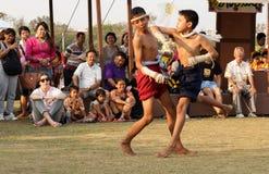 Тайская выставка бокса Стоковая Фотография