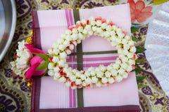 Тайская гирлянда, тайская гирлянда свежего цветка стиля. Стоковое Изображение RF