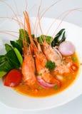 Тайская еда Азии продуктов моря Tom Yum еды Стоковые Изображения RF
