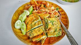 Тайская еда для обеда стоковая фотография
