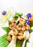 Тайская еда, испаренные рыбы луциана и шримс Стоковые Изображения