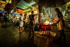 Тайская еда улицы стоковая фотография