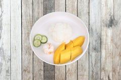 Тайская еда treaditional, рис жасмина с овощами и плодоовощи Стоковая Фотография RF