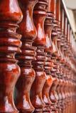 Тайская деревянная терраса Стоковое Изображение RF
