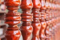 Тайская деревянная терраса Стоковое Фото