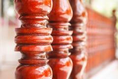 Тайская деревянная терраса Стоковая Фотография