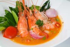 Тайская еда Азии продуктов моря Tom Yum еды Стоковые Фотографии RF