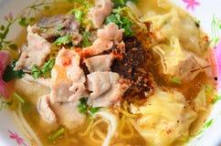 Тайская еда, лапша Стоковые Фотографии RF