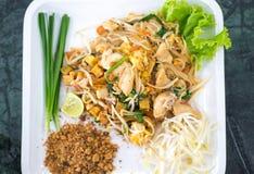 Тайская еда лапшей стиля Стоковая Фотография