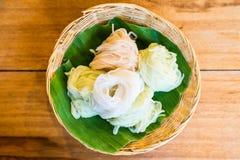 Тайская еда, лапши риса Стоковые Изображения