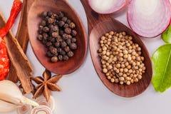 Тайская еда варя ингридиенты Стоковые Фотографии RF