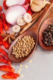 Тайская еда варя ингридиенты Стоковое Фото