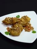 Тайская еда, время ka tod kai Стоковое фото RF