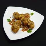 Тайская еда, время ka tod kai Стоковое Фото