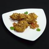 Тайская еда, время ka tod kai Стоковые Фото