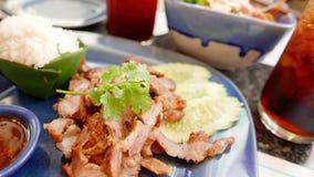 Тайская еда - еда свинины Стоковые Фото