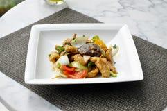 Тайская еда - пошевеленные овощ и свинина стоковые фотографии rf