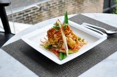 Тайская еда - салат краба Softed пряный стоковое изображение rf