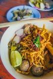 Тайская еда & x28; Северное Thai& x29; Стоковая Фотография
