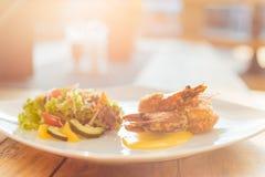Тайская еда с заходом солнца Стоковые Фотографии RF