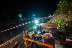 Тайская еда установленная для еды Стоковое Изображение RF