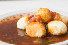 Тайская еда Akelokeki с перцем и луками стоковые изображения