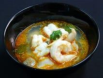 Тайская еда, goong Tom yum Стоковое Фото